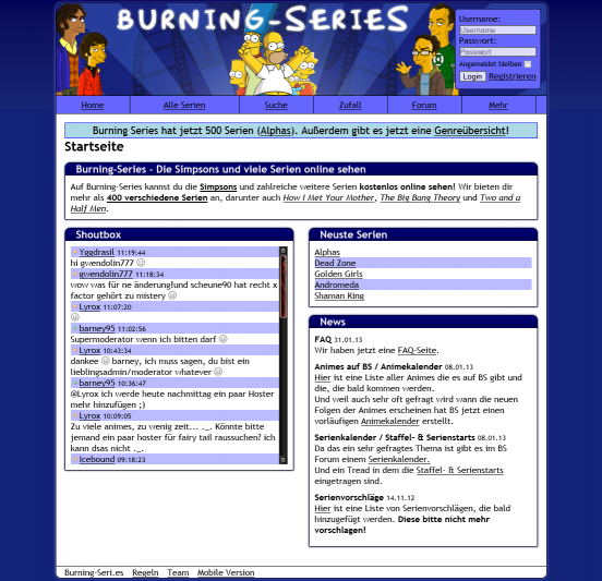 Die Simpsons Burning Series